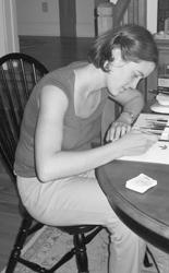 Lara Call Gastinger, chief illustrator for the Flora of Virginia