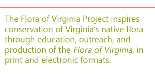 In text, the mission of the Flora of Virginia Project.