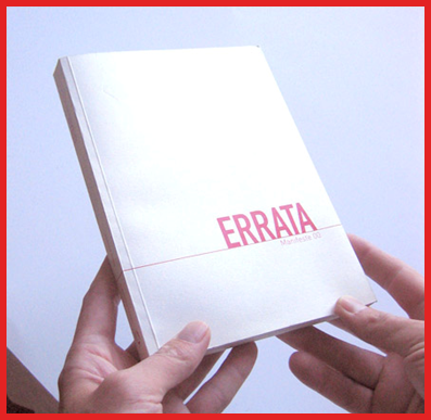 "Photo of hands holding a report titled ""Errata""; links to corrections to the Flora."